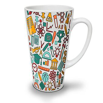 Science Geek School Geek NEW White Tea Coffee Ceramic Latte Mug 12 oz | Wellcoda