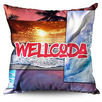 Holiday Memory Linen Cushion 30cm x 30cm | Wellcoda