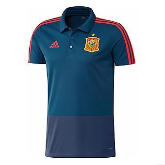 2018-2019 Spania Adidas Training tricou polo (albastru)