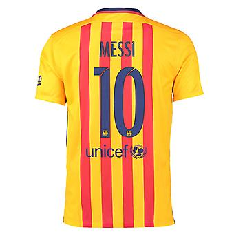 2015-16 Barcelona Away Shirt (Messi 10)