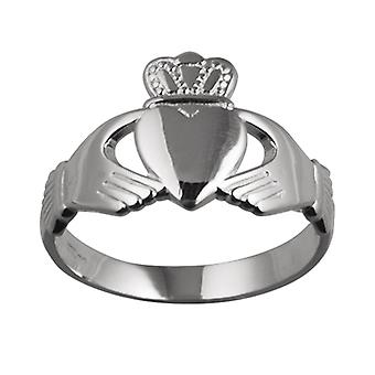 23x15mm الفضي Claddagh Ring حجم Z