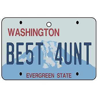 Washington - beste Tante License Plate Auto Lufterfrischer