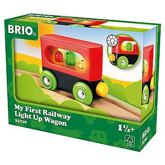 Brio My First Railway Light up Wagon