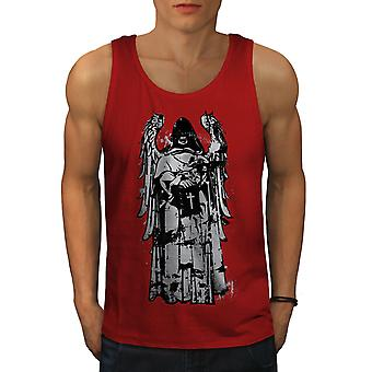 Cross Scary Angel Men RedTank Top | Wellcoda