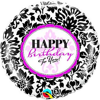 Qualatex 18 Inch Round Happy Birthday To You Foil Balloon