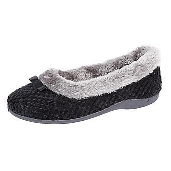 Sleepers Womens/Ladies Karina Faux Fur Memory Foam Slippers
