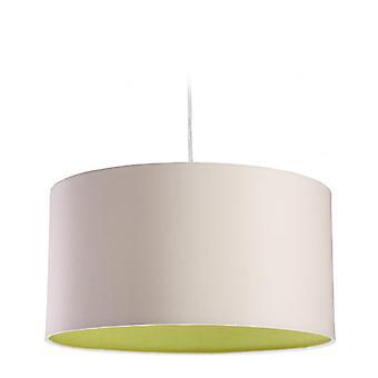 Firstlight Zeta hanger licht In crème stof met groene binnen