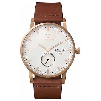 Triwa Unisex Falken Brown Leather Strap White Dial FAST101-CL010214 Watch