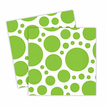 Amscan Dotted Square Luncheon Napkins