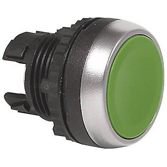 BACO L21AA02 Pushbutton predný krúžok (PVC), pochrómované zelená 1 ks (s)