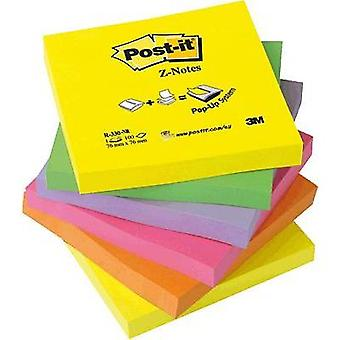 Post-it Sticky note 7000080709 76 mm x 76 mm Neon yellow, Neon green, Neon pink, Neon lilac, Neon orange 600 sheet