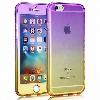 Crystal Case cover for Apple iPhone 5 / 5 s / SE lilla gul ramme hele kroppen