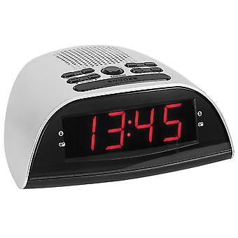 Atlanta 90119 alarm clock power clock radio alarm clock digital silver snooze digital alarm clock