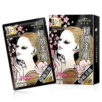 Sexy Look Hydratying V Mask Face + Neck 5Pc Sakura Black