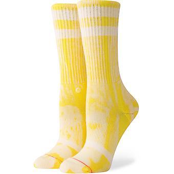 موقف كلاسيك غير المألوف طاقم الجوارب الطاقم باللون الأصفر