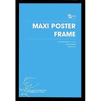 GB plakater 4 svart Maxi plakat rammer 61x91.5cm Bundle