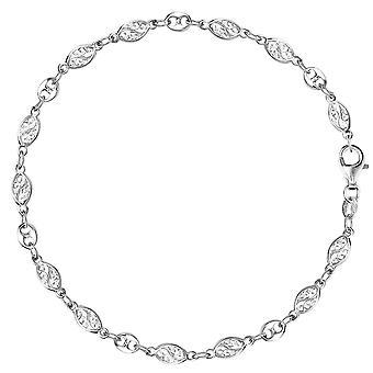 Blandet filigran og Mariner Link kæde Ankelkæde i Sterling sølv