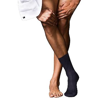 Falke No2 mejores Midcalf Cashmere Socks - Marina de guerra oscuro