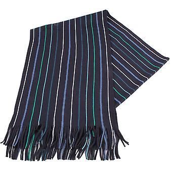 Bassin en bruin Illingworth Stripe sjaal - Navy/groen/wit