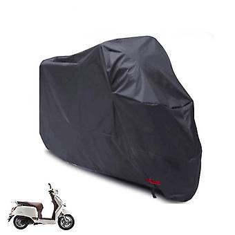 Imperméable à l'eau Motorcycle Cyclomoteur Protection pluie Uv Poussière taille L-Black
