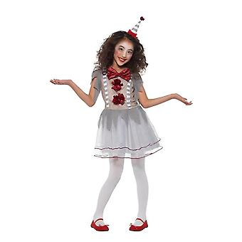 Vintage Clown Circus Girl Costume, Halloween Fancy Dress, Medium Age 7-9