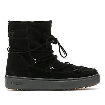 Moon Boot Pulse Mid Womens Black Suede Boots