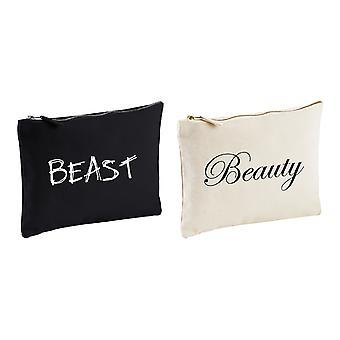 Zestaw par kosmetyczka, piękna i bestia