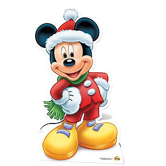 Mickey Mouse Santa Claus Lifesize Cardboard Cutout / Standee