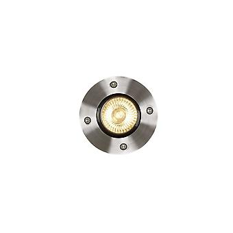 Lucide Biltin Modern Round Aluminum Satin Chrome Deck Light