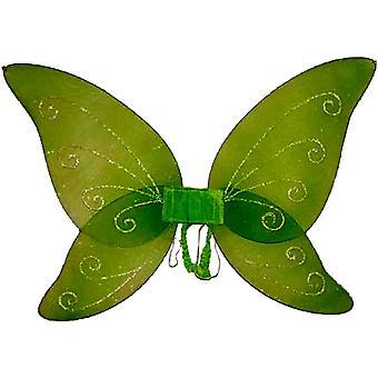 Skrzydła bajki dziecko zielony