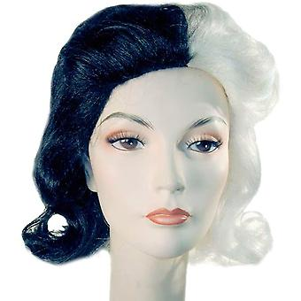Black White Combo Wig