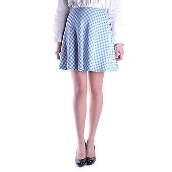 Prada Ezbc021001 Kvinder's Blå Uld Nederdel