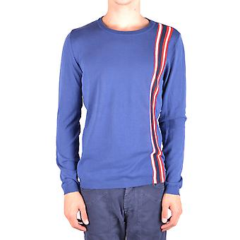 Daniele Alessandrini Ezbc107054 Men's Blue Cotton Sweater
