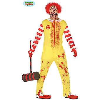 Costumes hommes Costume de Clown Zombie Burger