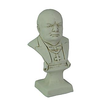 Museum White Finish Winston Churchill Bust Statue