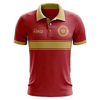 Montenegro-Konzept-Streifen-Polo-Shirt (rot)