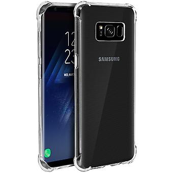 Samsung Galaxy S8 Plus Case, Enforced Angles, Silicone Skin - Transparent