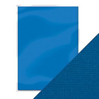 Handwerk perfekt von Tonic Studios A4 Weben strukturierte Karte 10pk Französisch blau