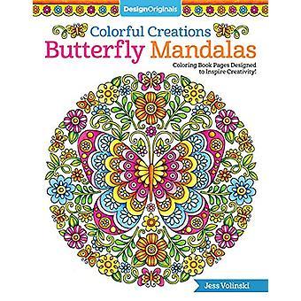 Créations colorées papillon mandalas-Coloriage livre pages conçu t