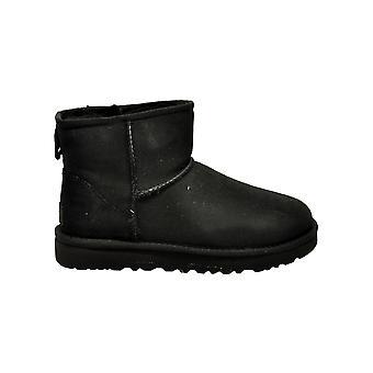 Ugg Miniclassiciiblack Women's Black Suede Ankel Støvler