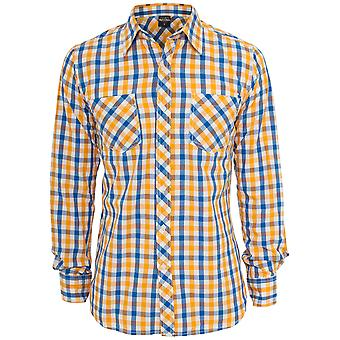 Urban Classics Men's Long sleeve Shirt Tricolor Big Checked