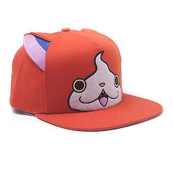 Yo Kai Watch Jibanyan Print Snapback Baseball Cap With Ears Orange (SB860415YKW)