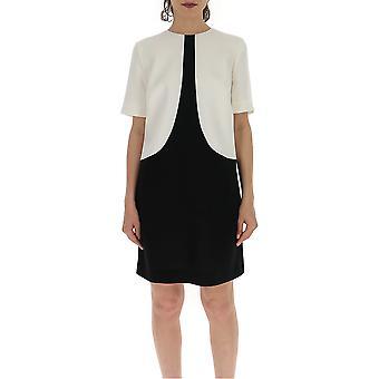 Givenchy Bw20p010eg004 Women's White/black Silk Dress