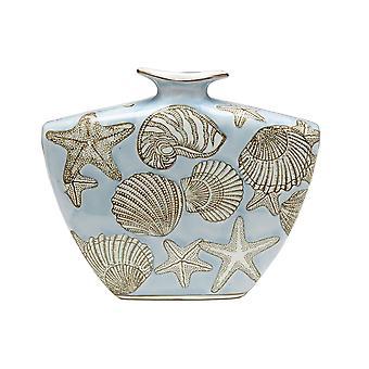 9 Inch Tall Seashell Design Vase