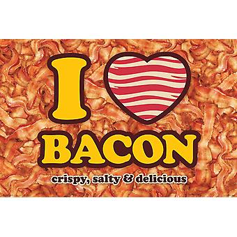 Poster - Bacon - I Heart Bacon Wall Art Licensed Gifts Toys 241277