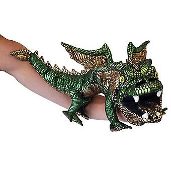 Hand Puppet - Dragons - Dragon (Green) Soft Doll Plush PC001202