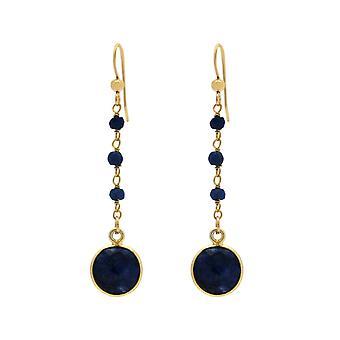 Gemshine ørepynt dyp blå safir gemstone dråper. 925 sølv eller forgylt