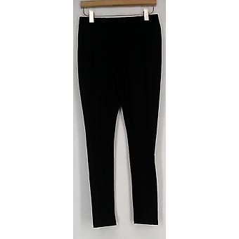 Lisa Rinna samling leggings vanlige leggings m/ribbet panel svart A278937
