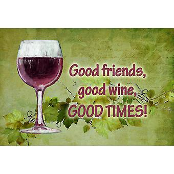 Good friends, good wine, good times Fabric Placemat
