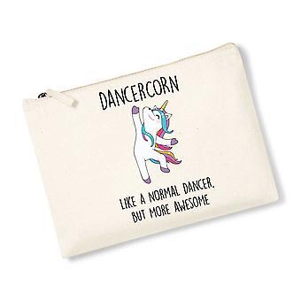 Dancercorn Unicorn Natural Canvas Accessory Bag